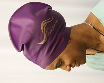XL Dreadlock Swim Cap - PURPLE