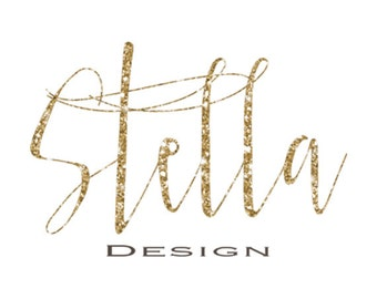 Premade Logo /Small business logo / Gold Glitter Logo/ Custom Logo