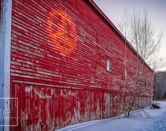 The Vermont Barn - Vermont Landscape - Matted Photo Art Print