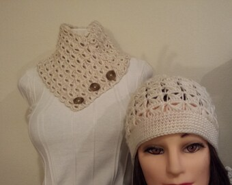 crochet scarfs and hat for women