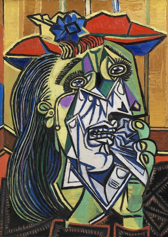 pablo picasso the weeping woman a3 a4 high by worldofposter. Black Bedroom Furniture Sets. Home Design Ideas