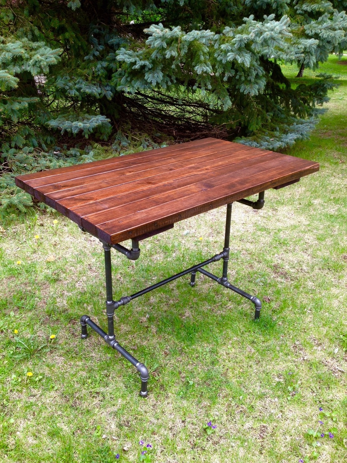 Rough hewn outdoor patio bar table reclaimed wood dining table for Barnwood outdoor table