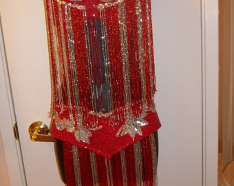Red/Silver Belly Dance Bra and Belt