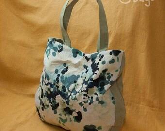 Everyday tote bag / oversized bag / casual bag / shoulder bag / faux suede bag / olive-turquoise color