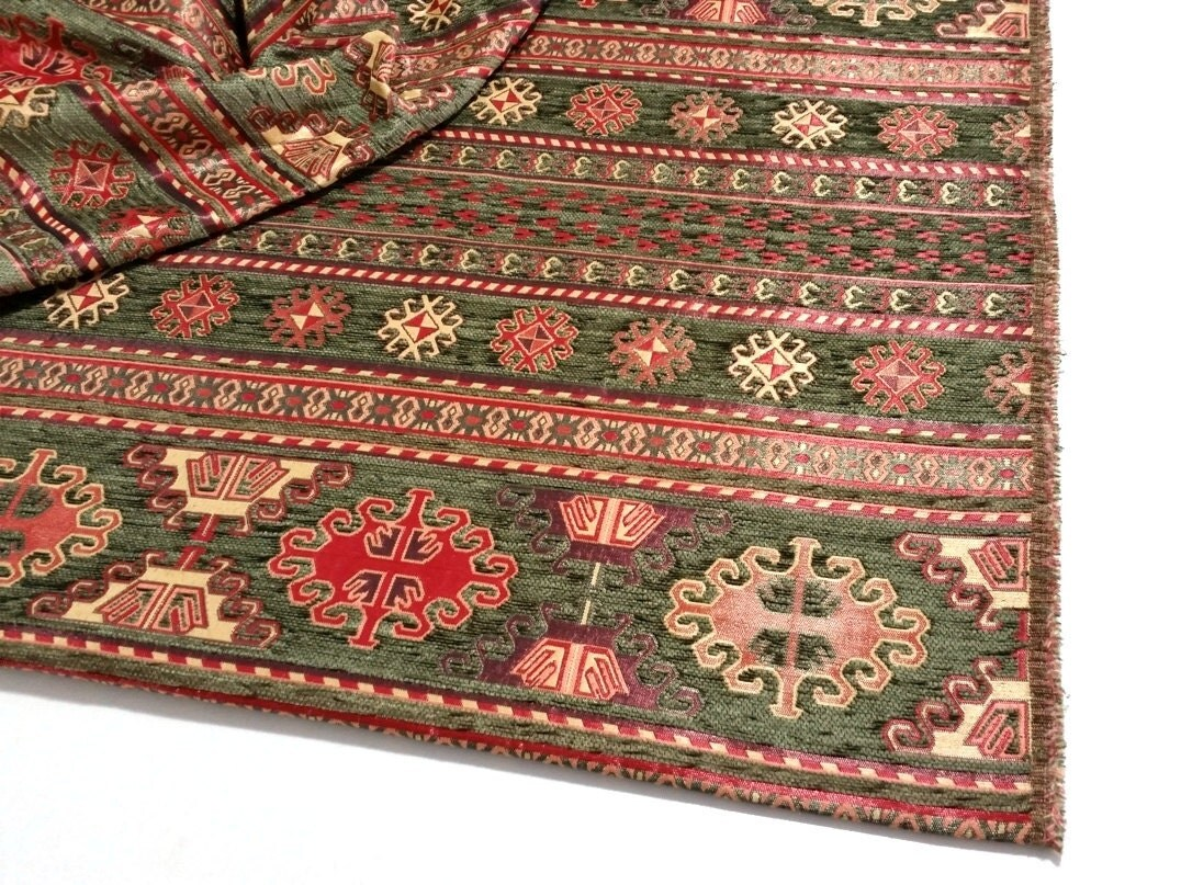 ethnische tribal style chenille m belstoff kilim stoff. Black Bedroom Furniture Sets. Home Design Ideas