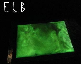 "Fluorescent powder - ""Moonbeams"" green"
