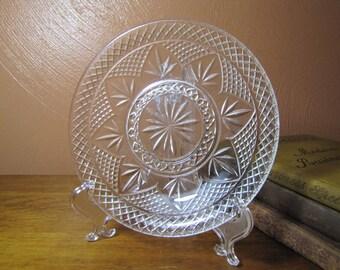 Vintage Pressed Glass Plate