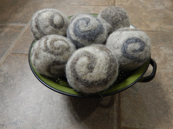 ovella Wool Dryer Balls, The Lixo Collection. Set of six.