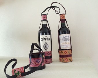 Leather Wine Bottle Holders