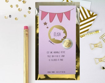 birth announcements personalized scratch