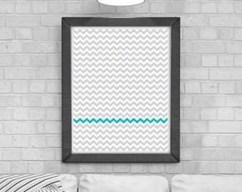 Digital Download 'Chevron Stripes' Poster, Printable Art, Instant Download, Wall Prints, Digital Art, Scandinavian print, pattern