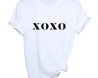 XOXO Shirt - Hugs and Kisses Shirt - XOXO Graphic Tee - Womens XOXO Shirt - Womens Graphic Tee - Boyfriend Style Shirt - xoxo Shirt