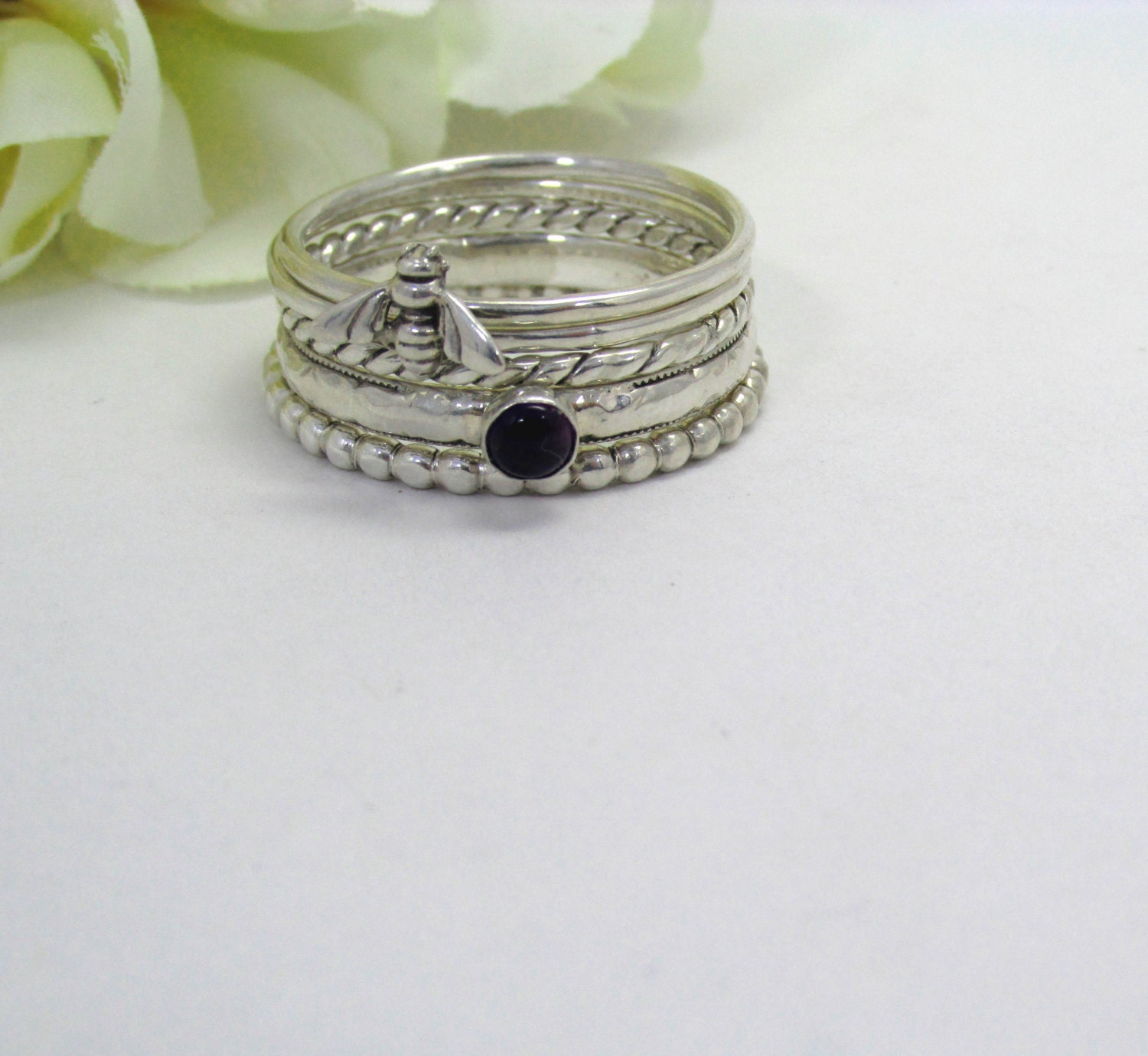 stacking rings sterling silver stack rings by