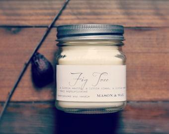 Fig Tree Mason Jar Soy Candle