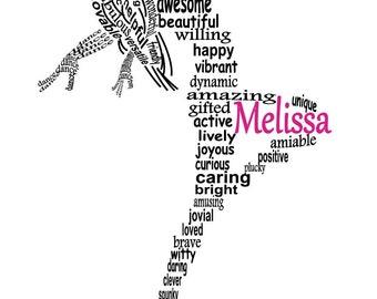 Lyrical Dancer Art, Lyrical Dancer Word Art, Modern Dancer Art, Personalized Word Art Typography,  PRINTABLE DIGITAL FILE