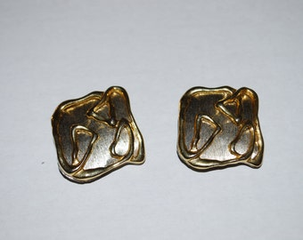 Vintage Silver Gold Park Lane Clip On Earrings