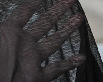 """Black White Lace Fabric Elastic Tulle Fabric Layering Basics Lace Fabric 70""""   1 Yard B044"""
