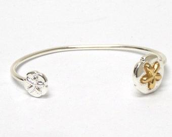 Sand Dollar Two-Tone Bangle Bracelet