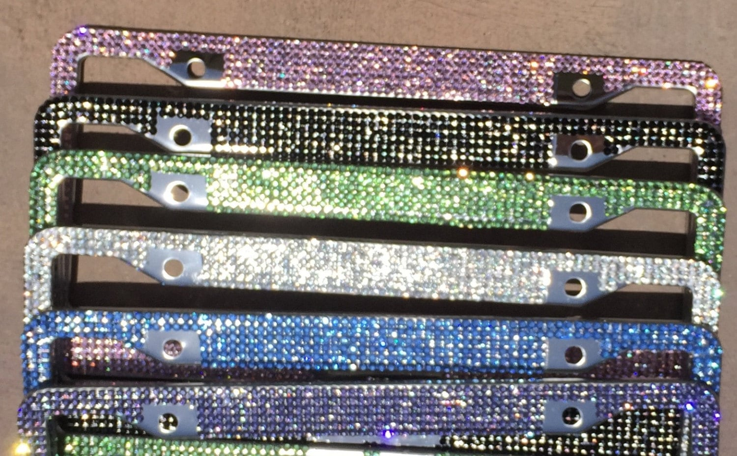 Asombroso Custom Bling License Plate Frames Inspiración - Ideas ...