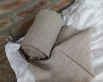 Antique homespun hemp fabric. Width 44cm