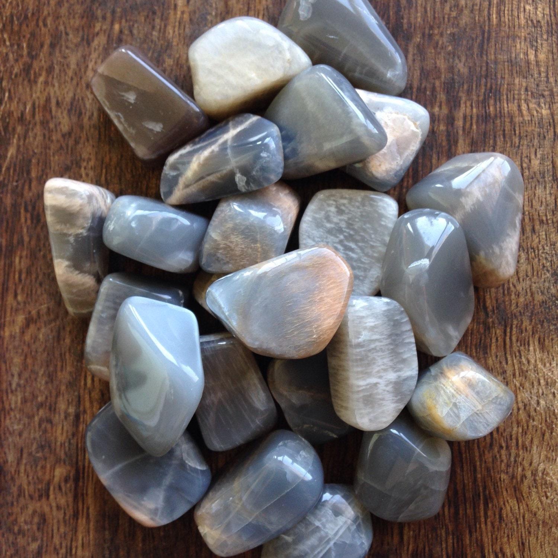 Black Moonstone Crystal Healing Stone Good Fortune by GotRockz