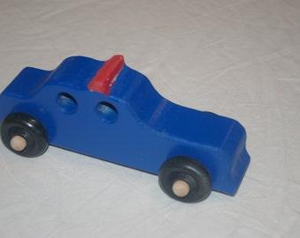 Wood Toy Police Car