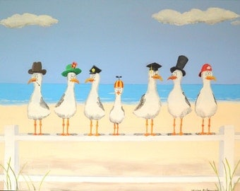 Seagulls with Hats