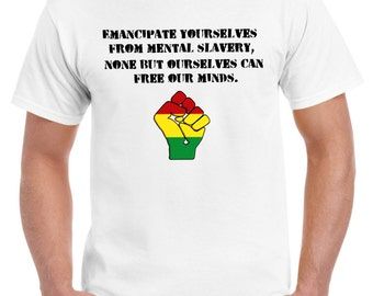 Emancipate Yourselves From Mental Slavery Bob Marley Mens T-Shirt