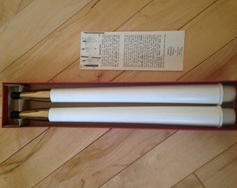 Eastern Seaboard Plastics White Gas Candles ~ Retro Gas Burning Candles ~ New in Box 1960's Candles ~ ReUsable Candles