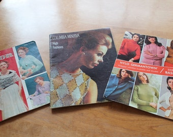 Vintage Knitting Books from the 1950's and 1960's