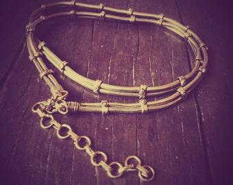 2-strand Brass Snake Chain Belt