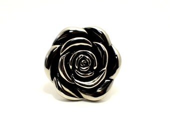 Stainless steel Antique Camelia Ring