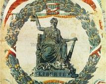 French revolution liberation of france vintage propaganda poster for Poster revolution france