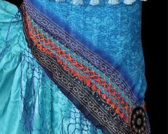 Bellydance tribal hipscarf with fringe