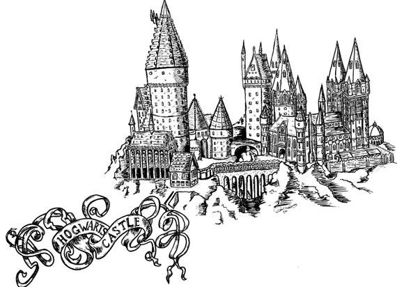 Articles similaires imprimer ch teau poudlard d 39 un marqueur original dessin sur etsy - Chateau a imprimer ...