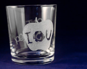 Get Sherlock / IOU glass tumbler (Engraved by Hand)