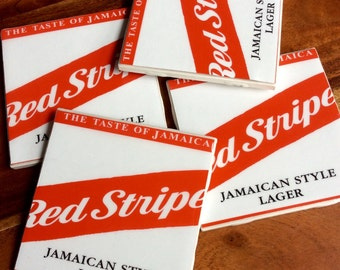 Red Stripe Beer Coasters