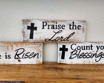 Your choice of inspirational handmade pallet board sign, rustic sign, Christian decor, Wall Hanging, Wood Pallet, Reclaimed Wood, Hand Paint