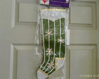 Vintage Christmas Stockings Felt Set of 4