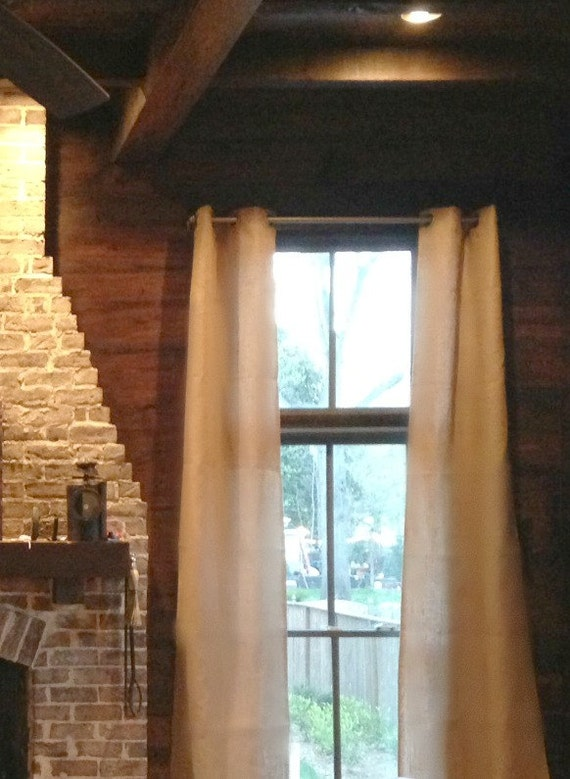 """Burlap Panels All lined with Muslin with Grommet Top size 40x102"""""""