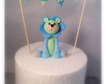 CUSTOM: Fondant Lion Cake Topper