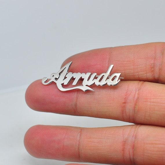 Spilla argento con targa personalizzata personalizzato nome