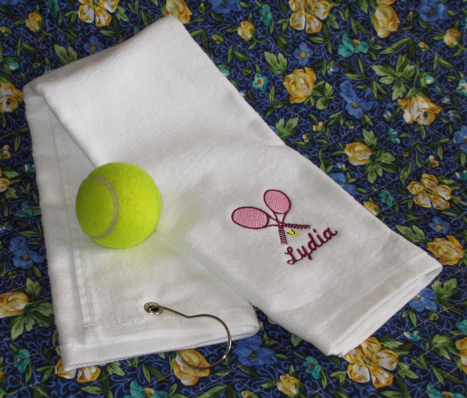 Custom Embroidered Tennis Towel All Cotton Terry