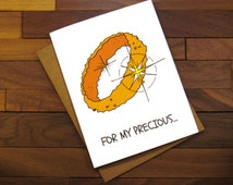 Lord of the Rings Card for a Movie Buff - For My Precious Funny Valentine Card - Funny Proposal Card for a Food Lover
