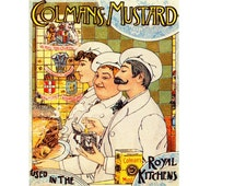 Colmans Mustard Used in the Royal Kitchens English Vintage Advertising Enamel Metal TIN SIGN Wall Plaque