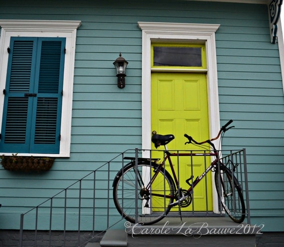 NEW ORLEANS BIKE at Rest ~ New Orleans, Louisiana ~ Doors of New Orleans ~ Bicycle ~ Fine Art Photography ~ Bike