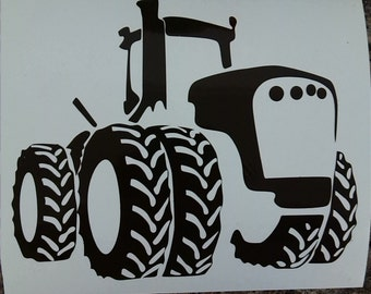 "Brown Vinyl Ready Tractor Decal 5"" x 6"""