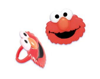 Elmo Cupcake Rings