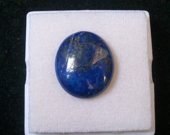 25x22mm Natural LAPIS LAZULI oval cabochon AAA Quality gemstone.....