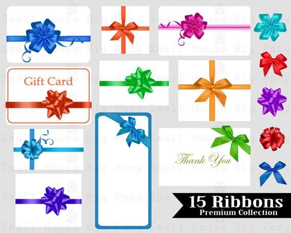 15 Ribbons Clip art, Clipart,  ribbon digital clip art, gift tag clip art, ribbon clipart, ribbon digital clip art